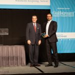 Ira Berman (L) of Gulfstream@ with 2015 Navigator Award winner Hassine Labaied of Saphon Energy