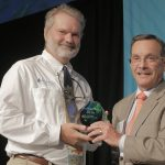 Joe Lombardo and 2014 Gulfstream® Navigator Award Winner Tony Frudakis of Okeanos