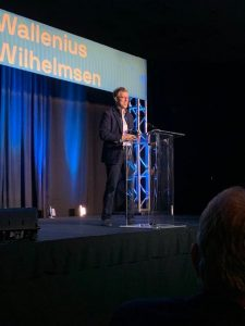 Chris Graves of Noon Energy, the 2019 WW Orcelle® Award winner.
